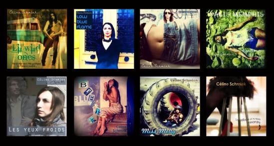 Quelques-uns des disques de Céline Schmink (sacem)