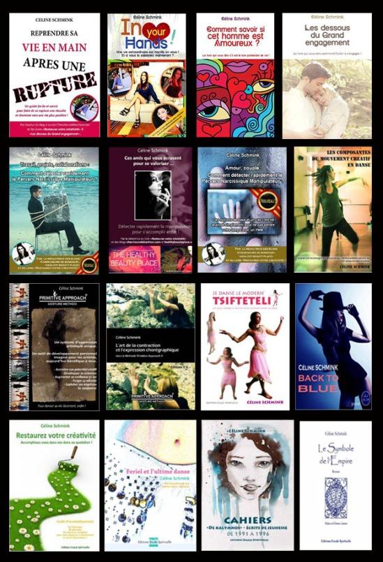 Quelques-uns des livres de Céline Schmink, auteur en développement personnel